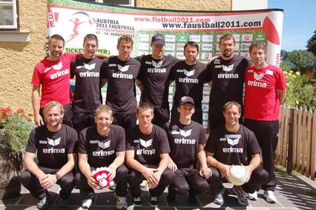 10er WM-Kader des Faustball Team Austria