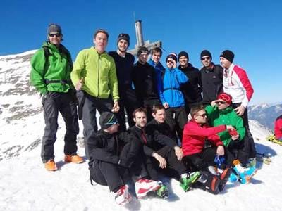 Das FTA Männer beim alternativen Konditionsschinden - Skitouren gehen am Pyhrn.