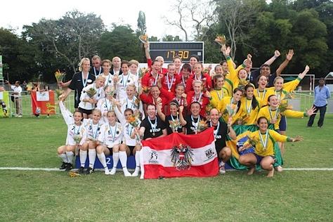 Die Medaillengewinnerinnen der U18 WM Frauen in Kolumbien