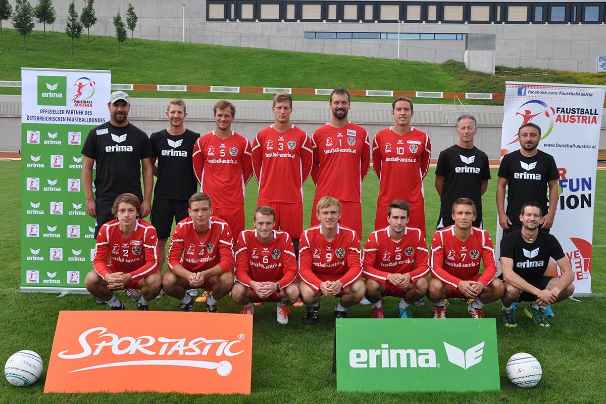 Faustball Team Austria Männer EM 2016