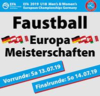 EFA U18 Europameisterschaft 2019 | 13./14.7.2019 | Hohenlockstedt (Deutschland)