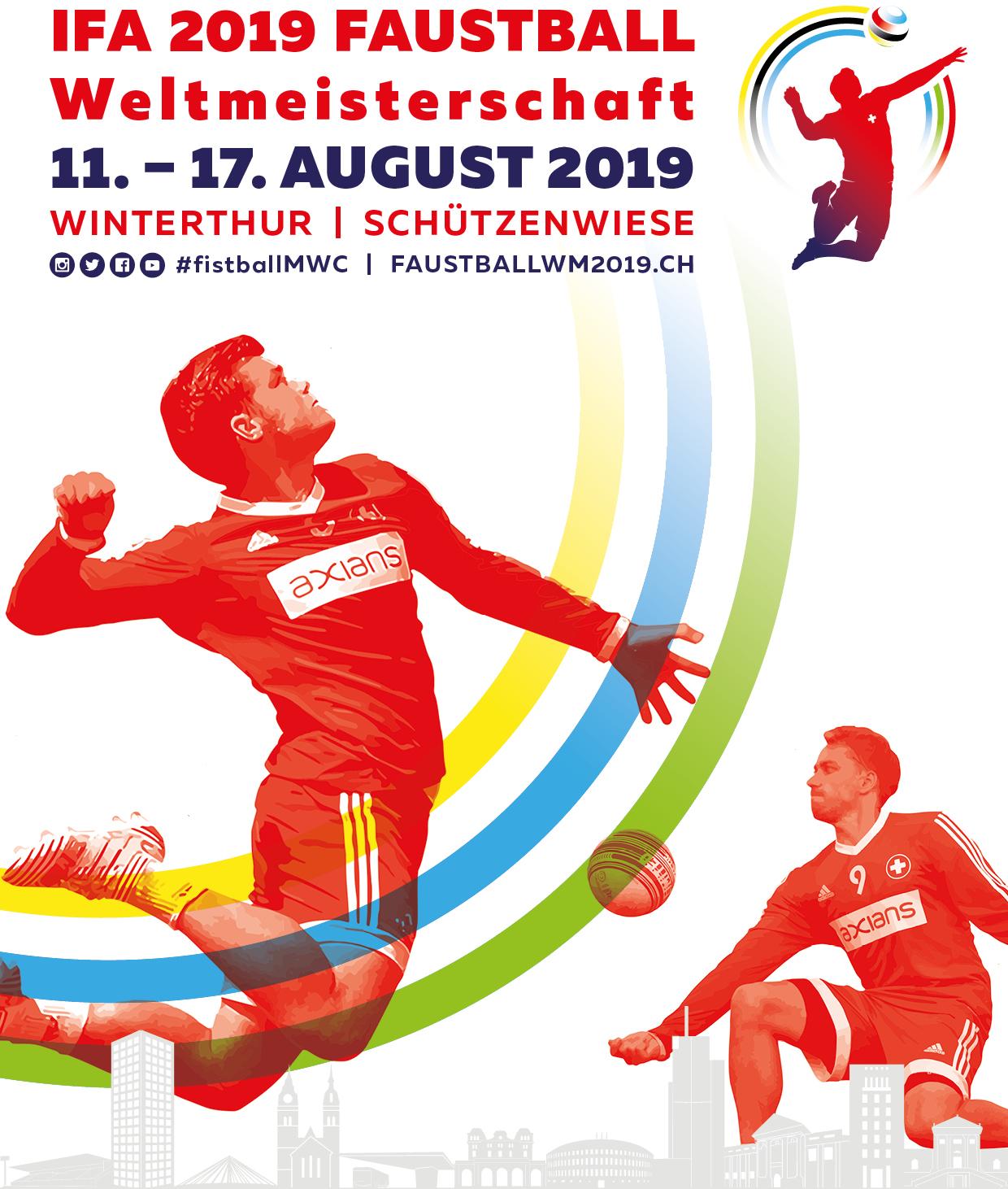Faustball WM Männer | 11.-17.8.2019 | Winterthur, Schweiz