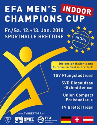 EFA 2018 Fistball Men's Champions Cup Indoor | 12./13.1.2018 | Brettorf (GER)