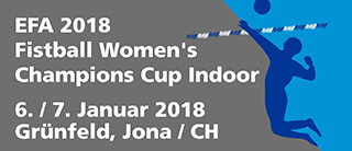EFA 2018 Fistball Women's Champions Cup Indoor | 6./7.1.2018 | Jona (SUI)