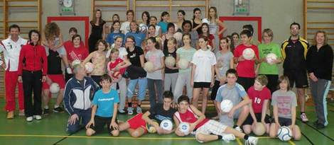 Faustball im BG Villach - Feb 2010